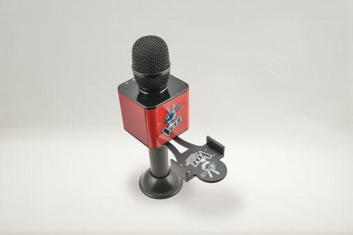 Soporte para el móvil smartphone el Micro de La Voz negro y rojo