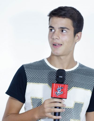 Primera sesión de fotos con el Micro de La Voz de Antena 3