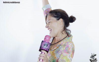 Nuestra primera sesión de fotos del micrófono de La Voz
