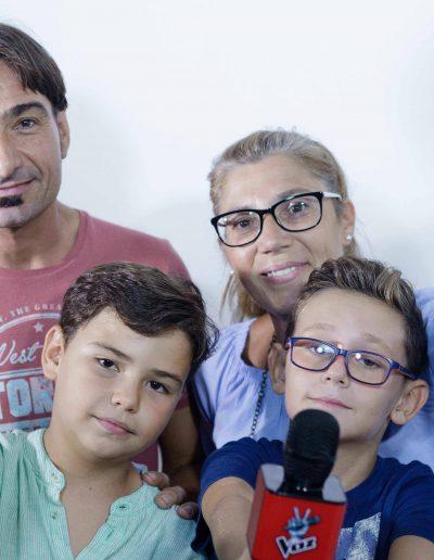 Primera sesión de fotos el micro de La Voz de Antena 3