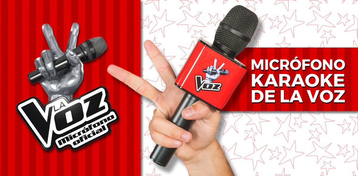 El micro de La Voz de Telecinco. Tienda para comprar el micrófono karaoke, producto oficial del programa.