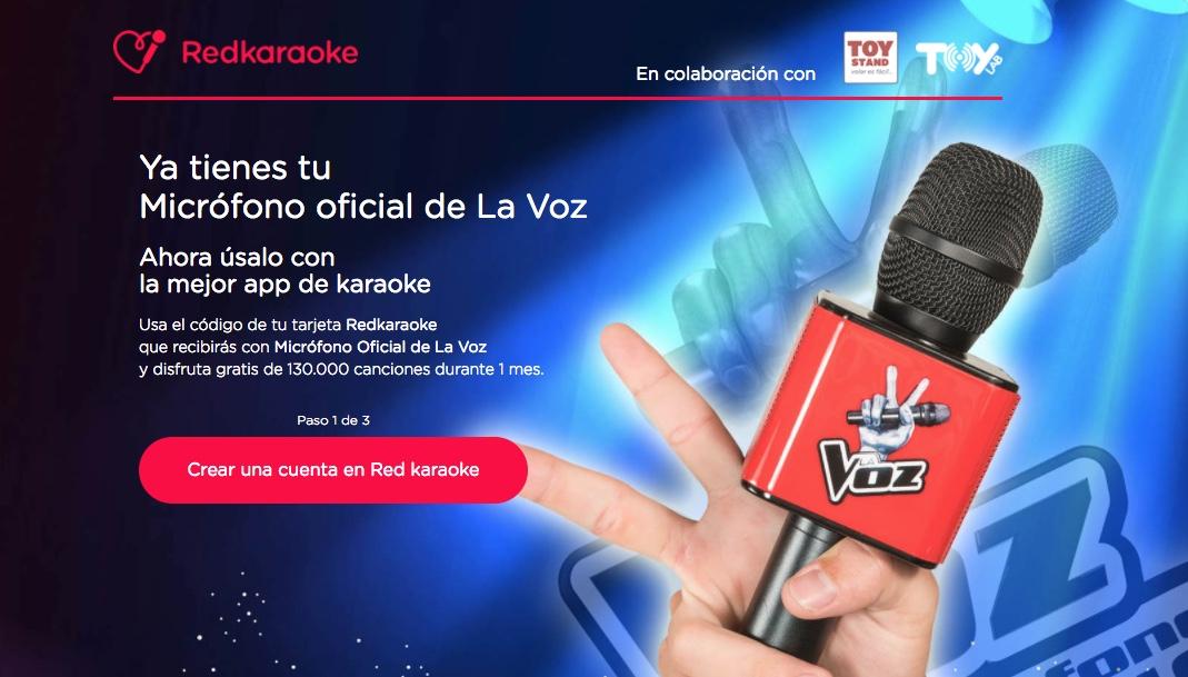 RedKaraoke colaboración con el micro de La Voz