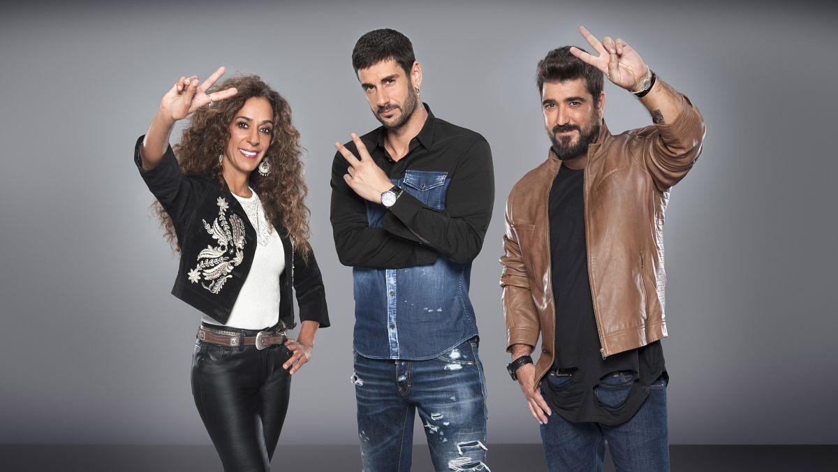 Los coaches La Voz Kids 2018 Rosario Flores, Melendi y Antonio Orozco con El Micro de La Voz