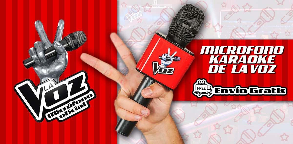 El micro de La Voz de Antena 3. Tienda para comprar el micrófono karaoke, producto oficial del programa.